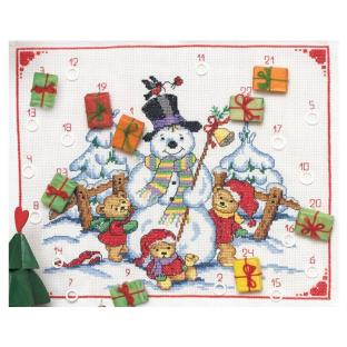 輸入刺しゅうキット Anchor Snowman And Bears Calender